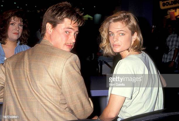 William McNamara and Erika Eleniak attend Video Software Dealers Association Convention on July 25 1994 at Las Vegas Convention Center in Las Vegas...