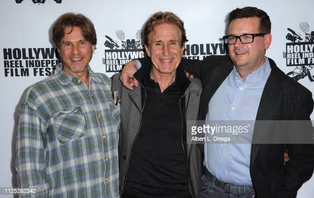 William McNamara John Shea and guest arrive for The 2019 Hollywood Reel Independent Film Festival held at Regal LA Live Stadium 14 on February 15...