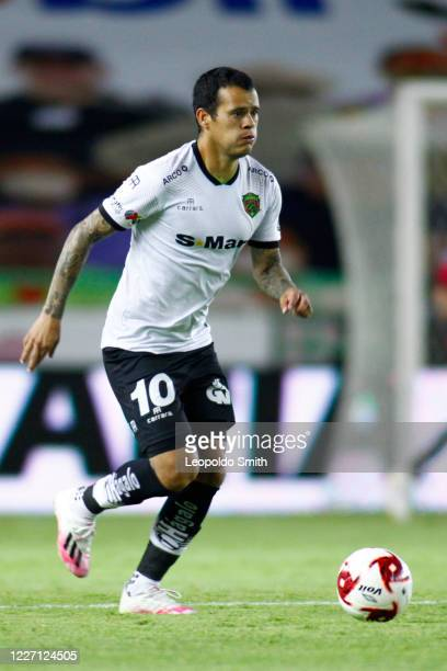 William Mendieta of FC Juarez controls the ball during a match between Leon and FC Juarez as part of the friendly tournament Copa Telcel at Leon...