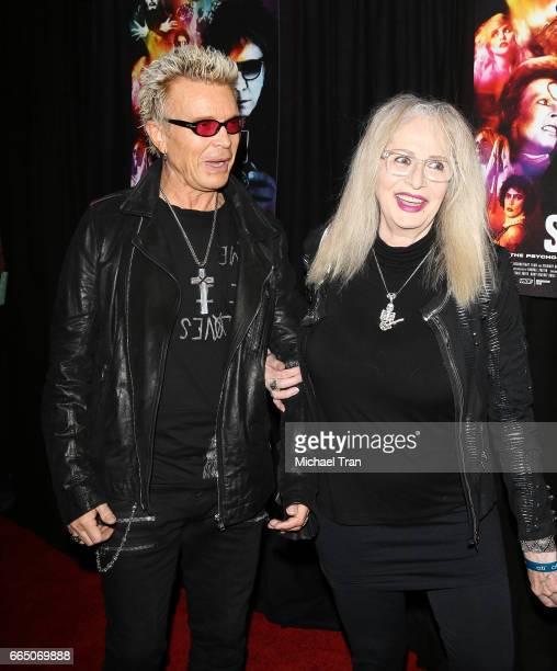 William Michael Albert Broad aka Billy Idol and Penelope Spheeris arrive at the Los Angeles premiere of SHOT The PsychoSpiritual Mantra of Rock held...