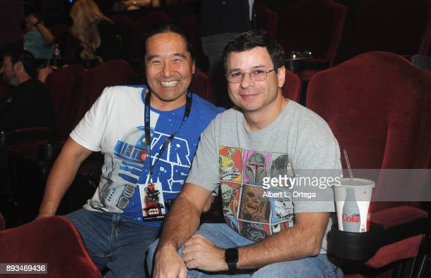 William Miyamoto and Victor Franco at the Opening Night Celebration Of Walt Disney Pictures And Lucasfilm's 'Star Wars The Last Jedi' At TCL Chinese...