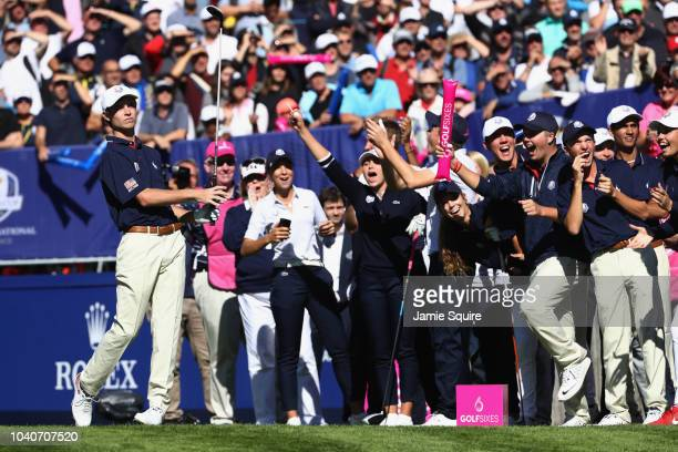 William Moll of Team USA tees off during the Junior Ryder Cup GolfSixes ahead of the 2018 Ryder Cup at Le Golf National on September 26 2018 in Paris...