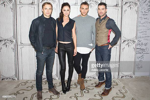 William Moseley Alexandra Park Tom Austen and Jake Maskall attend AOL BUILD Presents 'The Royals' at AOL Studios In New York on November 10 2015 in...
