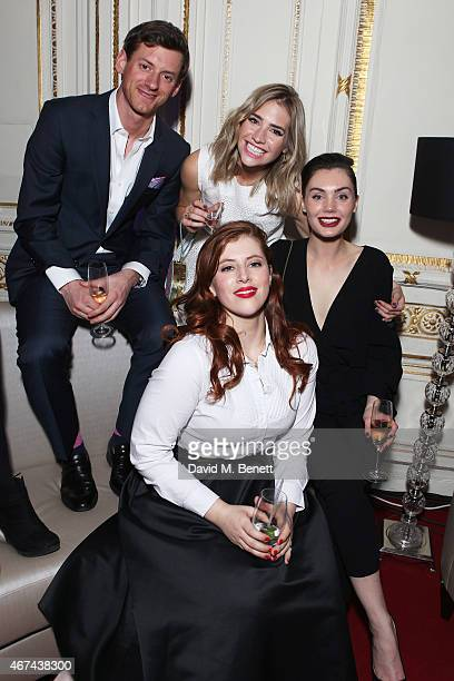 William Moseley Sophie Colquhoun Poppy CorbyTuech and Lydia Rose Bewley attend the 'The Royals' UK premiere party at the Mandarin Oriental Hyde Park...