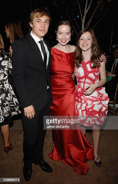 William MoseleyAnna Popplewell and Georgie Henley attend the The Chronicles of Narnia Prince Caspian New York Premiere After Party at New York Public...