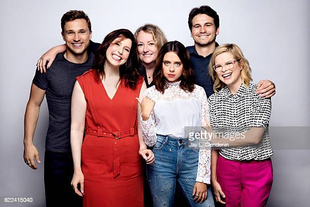 William Mosley Vanessa Bayer Susan Johnson Bel Powley Jason Ritter and Kara Holden of the film 'Carrie Pilby' pose for a portraits at the Toronto...