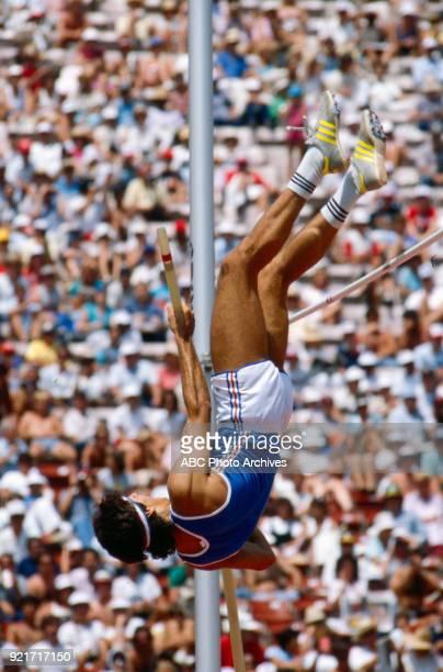 William Motti Men's decathlon pole vault competition Memorial Coliseum at the 1984 Summer Olympics August 8 1984