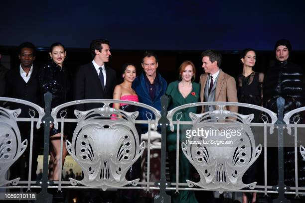 William NadylanClaudia KimCallum Turner Zoe Kravitz Jude Law JK Rowling Eddie RedmayneKatherine Waterston and Ezra Miller attend Fantastic Beasts The...