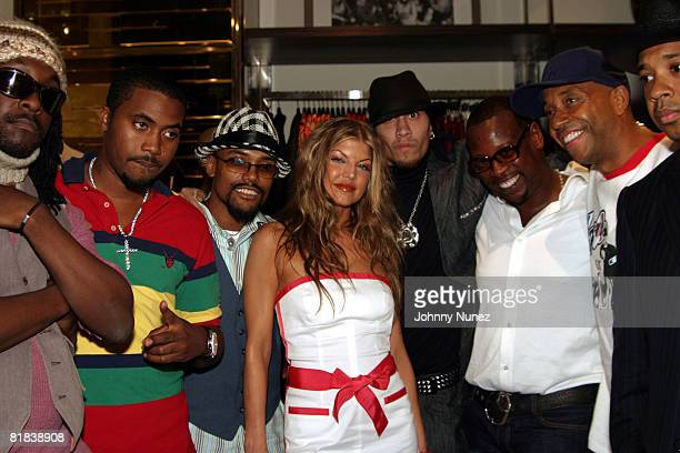 WillIAm Nas Allen Pineda Stacey Ferguson Jaime Gomez An re Harrell Russell Simmons and Reverend Run