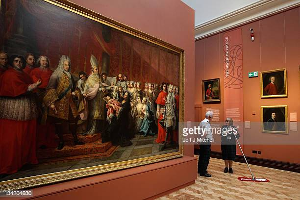 William Newell and Heather Bundy, chat in the Jacobite Room at the Scottish National Portrait Gallery, following a £17.6million restoration project...