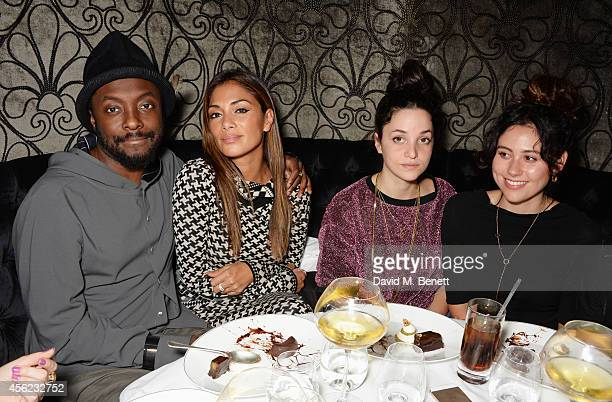 william Nicole Scherzinger Violetta Kassapi and Eliza Doolittle attend as Lauryn Hill performs at the Dover Street Arts Club on September 27 2014 in...