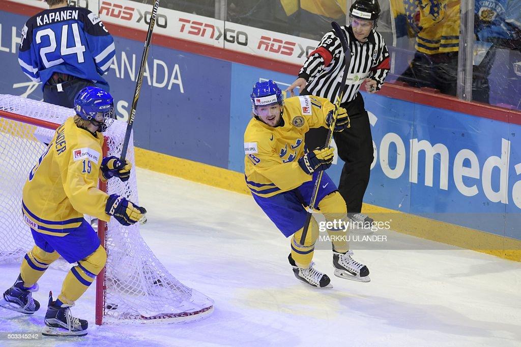 IHOCKEY-U20-SWE-FIN : News Photo