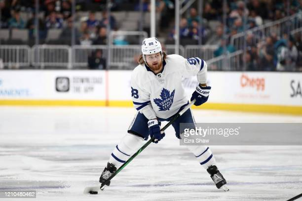 William Nylander of the Toronto Maple Leafs in action against the San Jose Sharks at SAP Center on March 03, 2020 in San Jose, California.