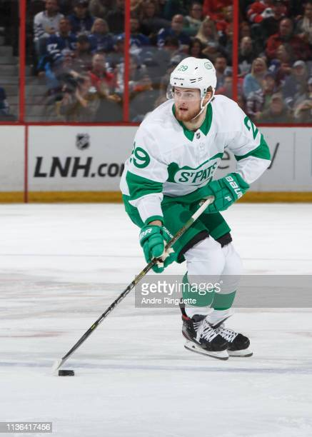 William Nylander of the Toronto Maple Leafs skates against the Ottawa Senators at Canadian Tire Centre on March 16 2019 in Ottawa Ontario Canada
