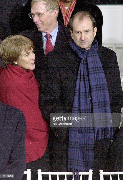William O DeWitt Jr with wife Katharine looks on during President Bush's Inaugural Parade January 20 2001 in Washington DC DeWitt Jr who reportedly...