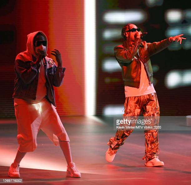 william of Black Eyed Peas and Tyga perform at the 2020 MTV Video Music Awards broadcast on Sunday August 30 2020 in New York City