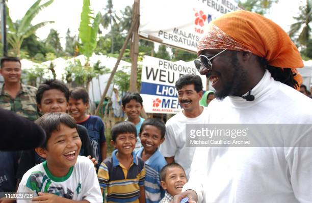william of Black Eyed Peas visits Banda Aceh to benefit the Force of Nature concert for tsunami aid to be held March 18 2005 in Kuala Lumpur Malaysia