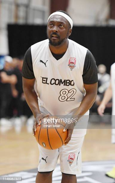 william of Team El Combo shoots a free throw during Roc Nation's Roc da Court allstar basketball game benefiting the Boys Girls Clubs of Southern...