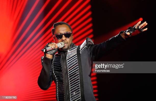 William of the Black Eyed Peas perfor at Vicente Calderon Stadium on July 14 2011 in Madrid Spain
