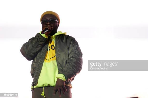 Will.i.am of The Black Eyed Peas performs during the second day of Son do Camino Festival on June 14, 2019 in Santiago de Compostela, Spain.