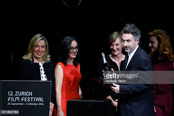 William Oldroyd receives the award for international movie for his movie 'Lady Macbeth' on stage during the Award Night Ceremony during the 12th...