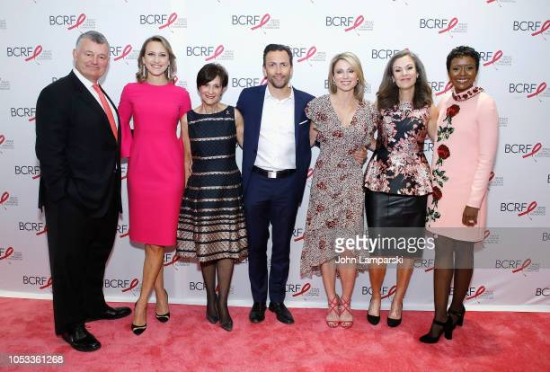 William P Lauder Kinga Lampert Myra Biblowit Andrew Shue Amy Robach Mary Dillon and Mellody Hobson attend 2018 Breast Cancer Research Foundation New...