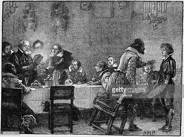 William Parker receiving letter of warning of the plot 1605 Gunpowder Plot Roman Catholic conspiracy to blow up English Houses of Parliament on 5...