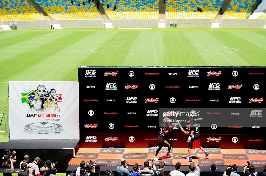 William 'Patolino' Macario holds an open training session for media at Maracana Stadium on October 23, 2014 in Rio de Janeiro, Brazil.