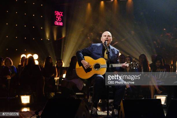 William Patrick Corgan performs during 'The Late Late Show with James Corden' Wednesday November 8 2017 On The CBS Television Network