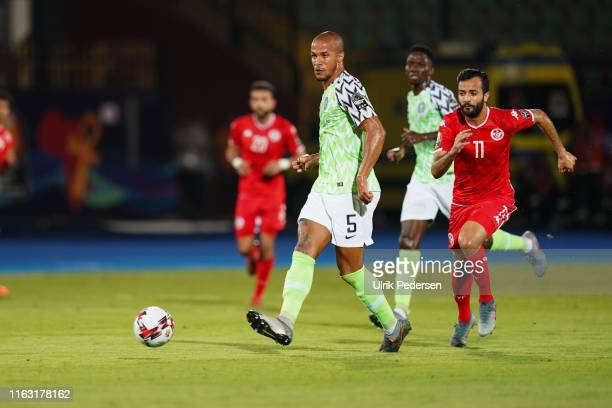 William Paul Ekong of Nigeria during the 2019 Africa Cup of Nations third place final soccer match between Tunisia and Nigeria at the Al-Salam...