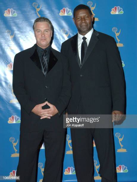 William Petersen and Dennis Haysbert presenters during 58th Annual Primetime Emmy Awards Press Room at The Shrine Auditorium in Los Angeles...