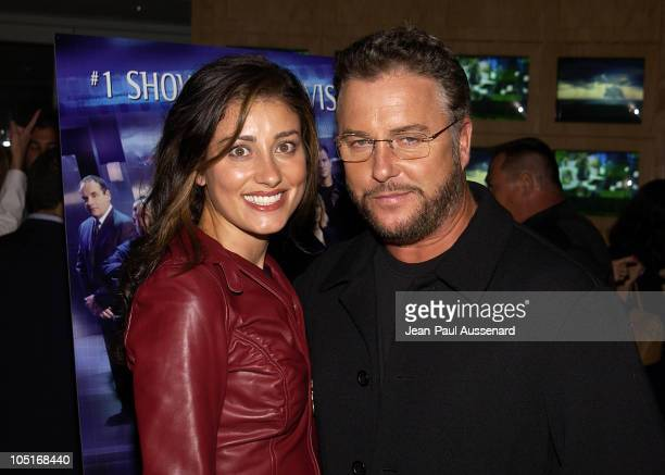 William Petersen and guest during 'CSI Crime Scene Investigation' Fourth Season Premiere Screening at Museum of Television and Radio in Beverly Hills...