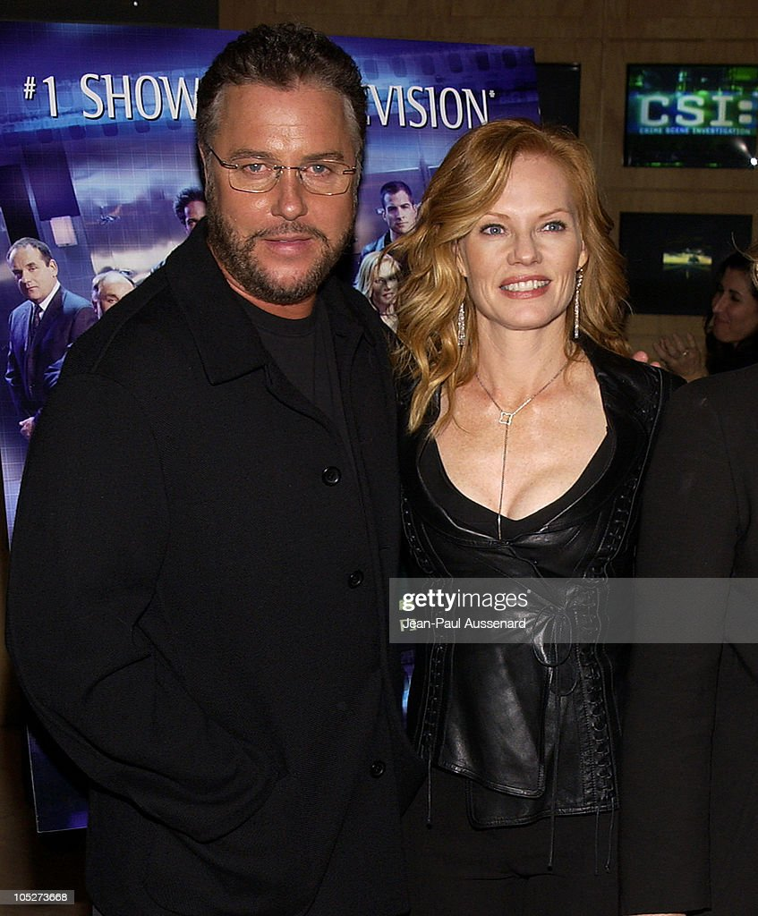 William Petersen and Marg Helgenberger during 'CSI: Crime Scene Investigation' Fourth Season Premiere Screening at Museum of Television and Radio in Beverly Hills, California, United States.