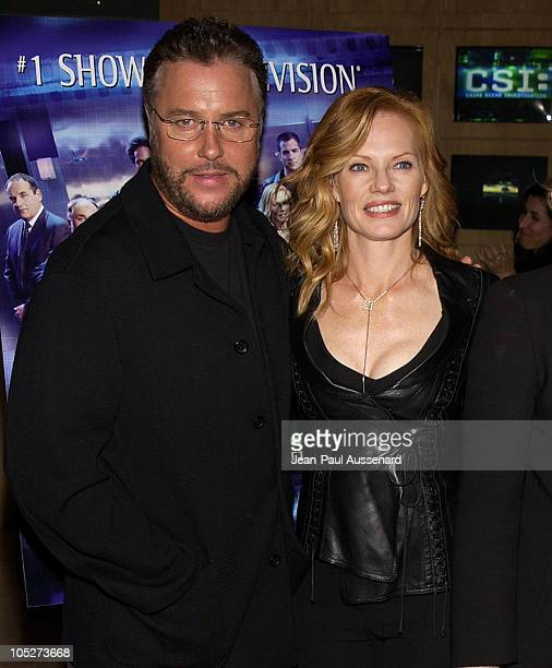 William Petersen and Marg Helgenberger during 'CSI Crime Scene Investigation' Fourth Season Premiere Screening at Museum of Television and Radio in...