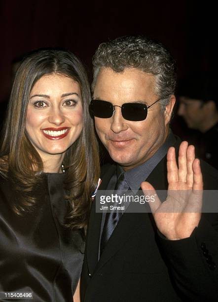 William Petersen and wife Gina Cirone during 53rd Annual Primetime Emmy Awards Arrivals at Shubert Theater in Century City California United States