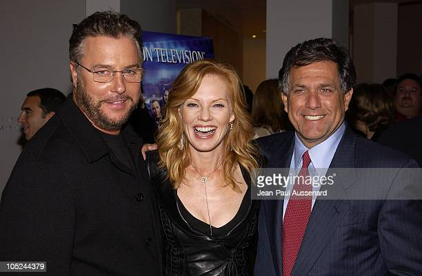 William Petersen Marg Helgenberger and Leslie Moonves