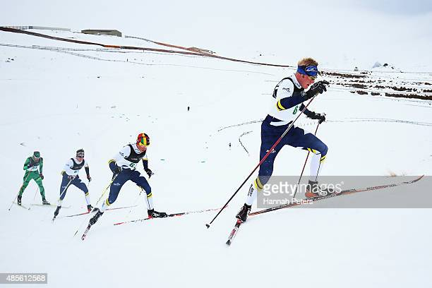 William Poffenroth of Canada competes in the FIS Cross-Country Skiing ANC Mass Start Classic Mens race during the Winter Games NZ at Snow Farm on...