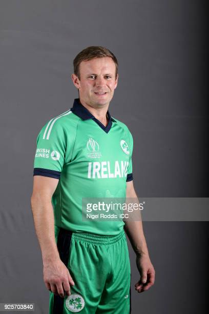 William Porterfield captain of Ireland poses for a picture during the Ireland Portrait Session for the ICC Cricket World Cup Qualifier at The Holiday...