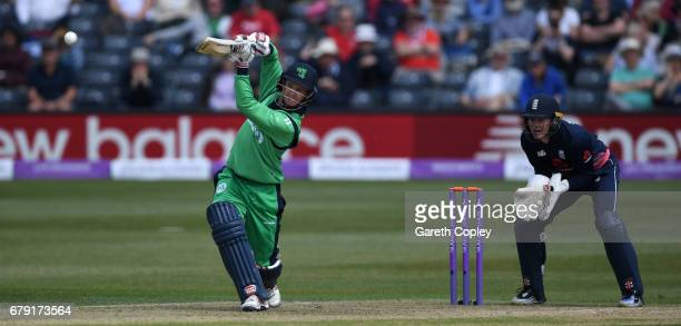 William Porterfield of Ireland bats during the Royal London One Day International between England and Ireland at The Brightside Ground on May 5 2017...