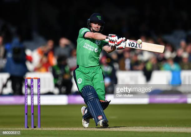 William Porterfield of Ireland bats during the Royal London One Day International between England and Ireland at Lord's Cricket Ground on May 7 2017...
