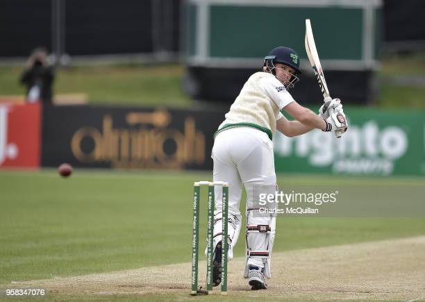 William Porterfield of Ireland during the fourth day of the international test cricket match between Ireland and Pakistan on May 14 2018 in Malahide...