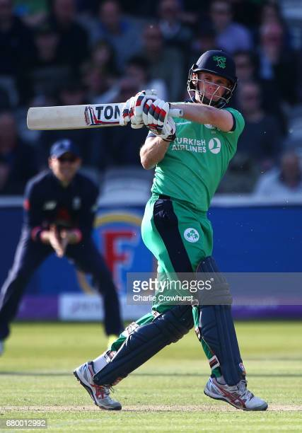 William Porterfield of Ireland hits out during the Royal London ODI between England and Ireland at Lord's Cricket Ground on May 7 2017 in London...