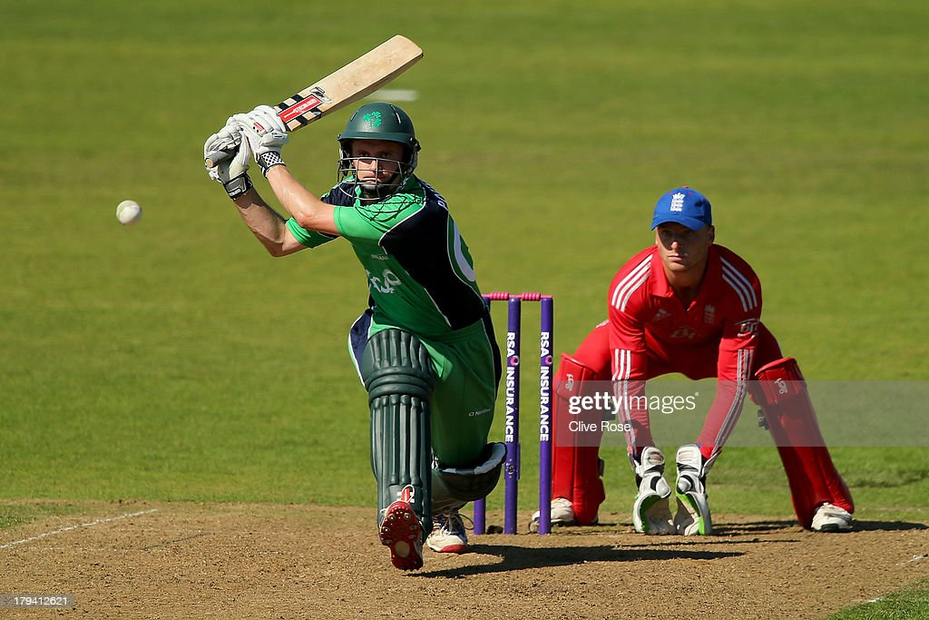William Porterfield of Ireland in action during the RSA Challenge One Day International match between Ireland and England on September 3, 2013 in Malahide, Ireland.