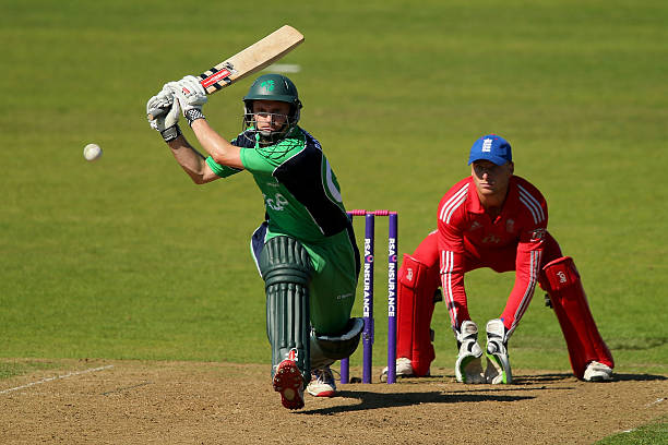William Porterfield of Ireland in action during the RSA Challenge One Day International match between Ireland and England on September 3 2013 in...