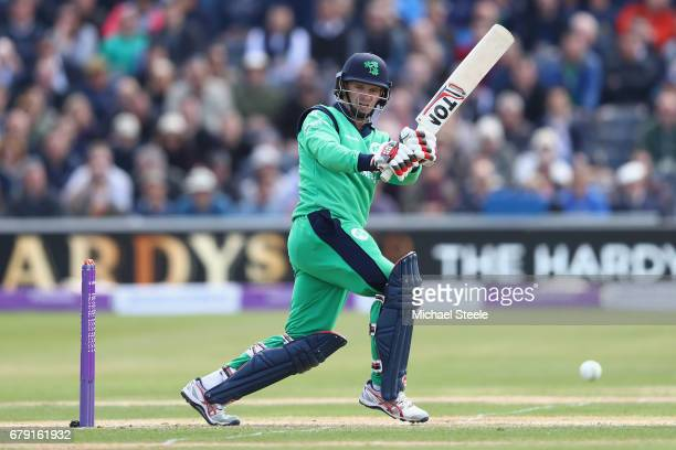William Porterfield of Ireland plays to the legside during the Royal London One Day International match between England and Ireland at The Brightside...