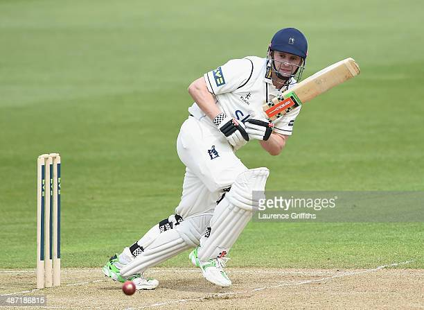 William Porterfield of Warwickshire in action during day two of the LV County Championship division one match between Nottinghamshire and...