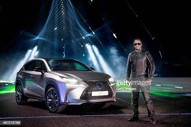 william poses at the making of Lexus #NXontrack an audio visual film that sees three Lexus NX cars drive down a 'sound road' fitted with more than...
