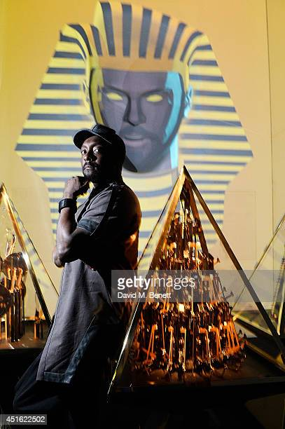 william poses with his work 'Pyramidi' at the Digital Revolution exhibition at Barbican Centre on July 2 2014 in London England