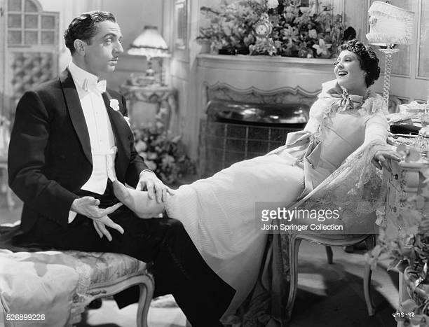 William Powell as Florenz Ziegfeld Jr and Luise Rainer as Anna Held in the 1936 film The Great Ziegfeld