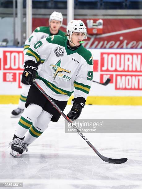 William Provost of the Valdu2019Or Foreurs skates in the warmup prior to the QMJHL game against the BlainvilleBoisbriand Armada at Centre...